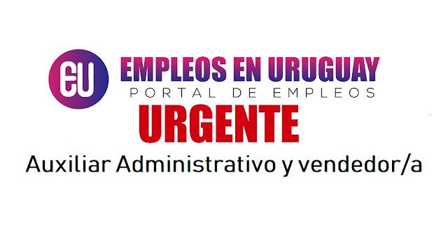 Urgente Auxiliar Administrativo y vendedor/a