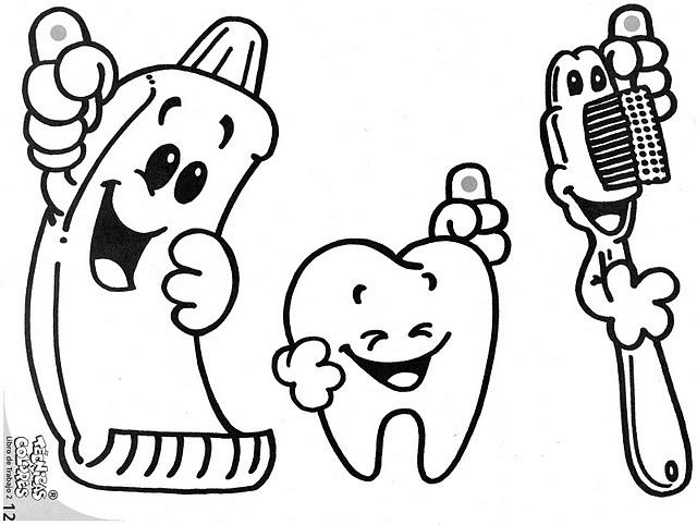 Dibujo Dientes Para Colorear E Imprimir: Lavarse Los Dientes: Dibujos Para Imprimir Y Colorear