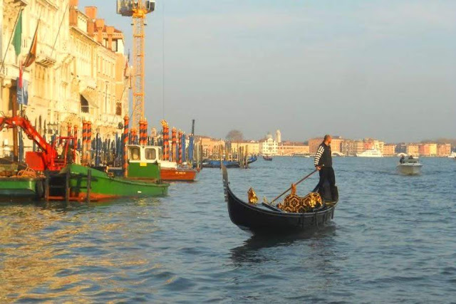 Venice in November: Gondolier