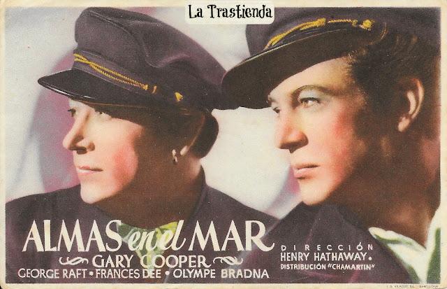 Programa de Cine - Almas en el Mar (Horizontal) - Gary Cooper - George Raft