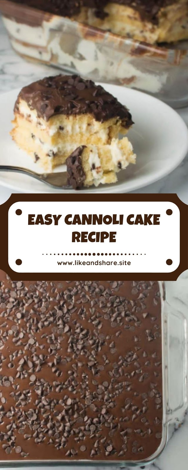 EASY CANNOLI CAKE RECIPE