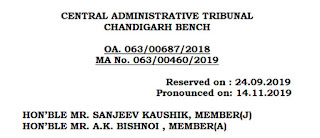 MACP-Promotion-Grade-Pay-CAT-Chandigarh-judgement