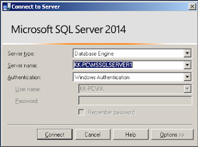 Konek ke Server mengguanakan SQLServer