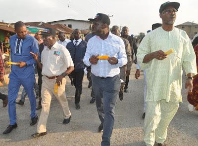 Gov Oshiomhole, and APC  governorship aspirant of Edo State Godwin Obaseki  555
