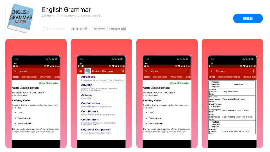 english grammar appgallery