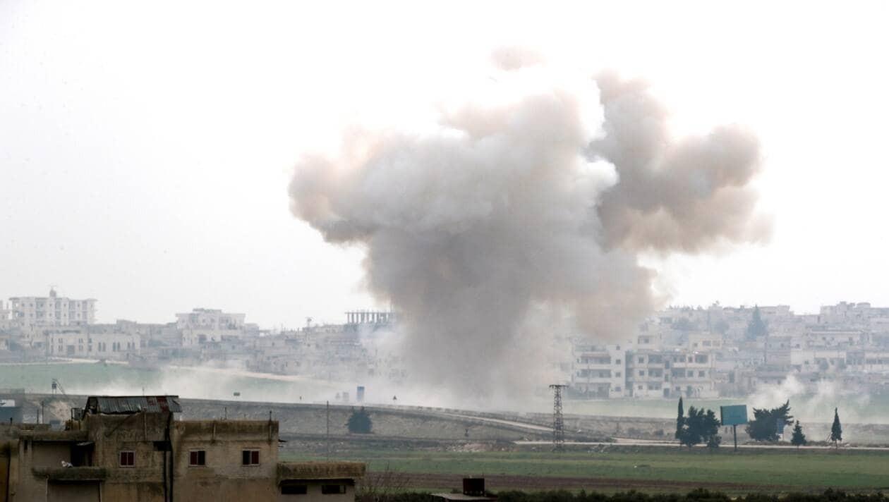 NATO Urges Syria, Russia To Halt Airstrikes As Migrants Leave Turkey