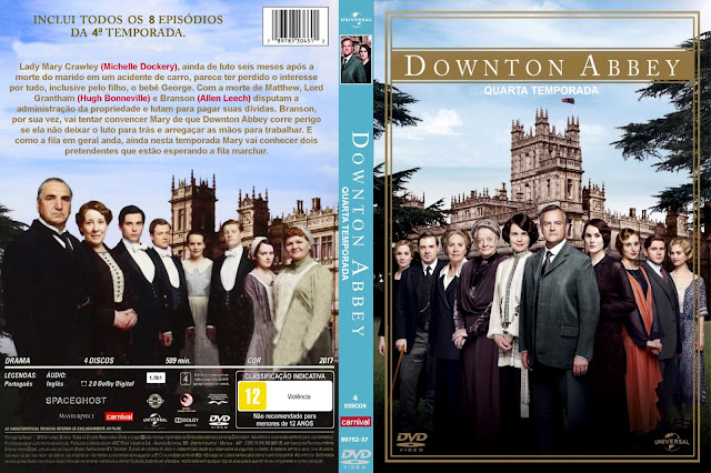 Capa DVD Downton Abbey Quarta Temporada