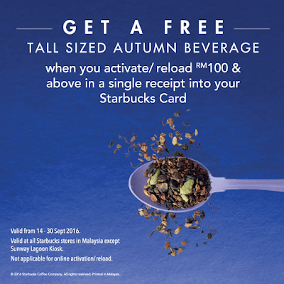 Starbucks Malaysia Free Complimentary Tall Sized Promotional Beverage