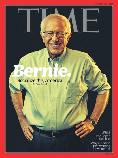 Senator Bernie Sanders TIME magazine September 2015