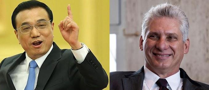Primer ministro chino llama xingao a Miguel Díaz-Canel