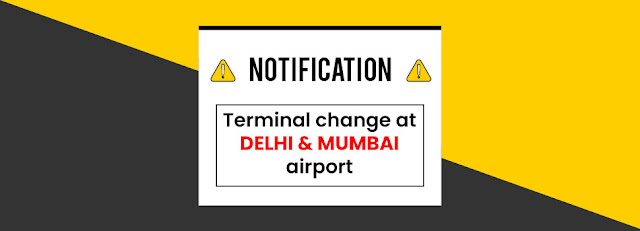 NOTIFICATION: Terminal updateTerminal ChangeIMPORTANT INDIGO & SPICEJET UPDATE ON TERMINAL CHANGE IN MUMBAI WITH IMMEDIATE EFFECTIndiGo Update:  All the flights with call sign between 6E 5000 - 6E 5999 will be departing from and arriving at Terminal 3 of Delhi (DEL). All the flights with call sign between 6E 5000 - 6E 5999 will be departing from and arriving at Terminal 2 of Mumbai (BOM)  SpiceJet:  With immediate effect, SpiceJet flights to and from Mumbai will operate from Mumbai Airport Terminal-2 (T2) INSTEAD of Terminal-1 (T1)  Kindly find the below details with existing flight numbers along with revised flight numbers & change of Terminal. Current Flight Numbers Revised Flight Numbers Origin Destination Departure Time Arrival Time Existing Terminal Change of Terminal 479 6479 BOM BHO 8:45 10:25 1 2 467 6467 BOM HYD 13:35 15:00 1 2 468 6468 HYD BOM 18:50 20:25 1 2 480 6482 BHO BOM 11:10 12:45 1 2, Akshar Travel Services, VIshwas Shopping Center Part-1, R.C.Technical Road, Ghatlodia, Ahmedabad - 380061. www.aksharonline.in, www.aksharonline.com