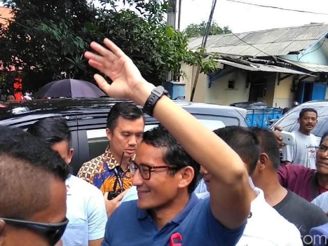 Kampanye di Jatim, Sandi Sempatkan Besuk Ahmad Dhani