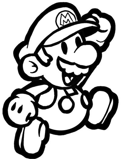 Colorir e Pintar: Colorir e Pintar o Super Mario Bros