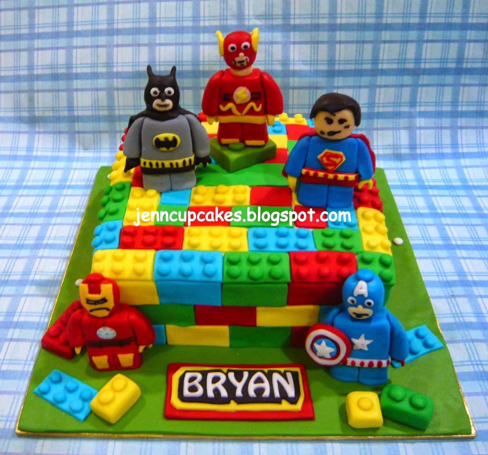 Lego Superhero Cake Decorations
