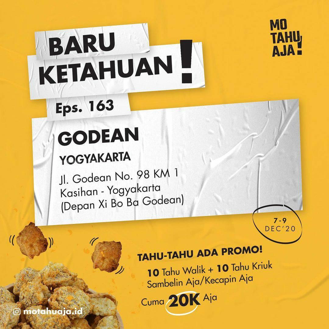MO TAHU AJA GODEAN Yogyakarta Opening Promo Paket 20 Tahu cuma Rp 20.000