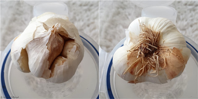 Organic garlic from Spain