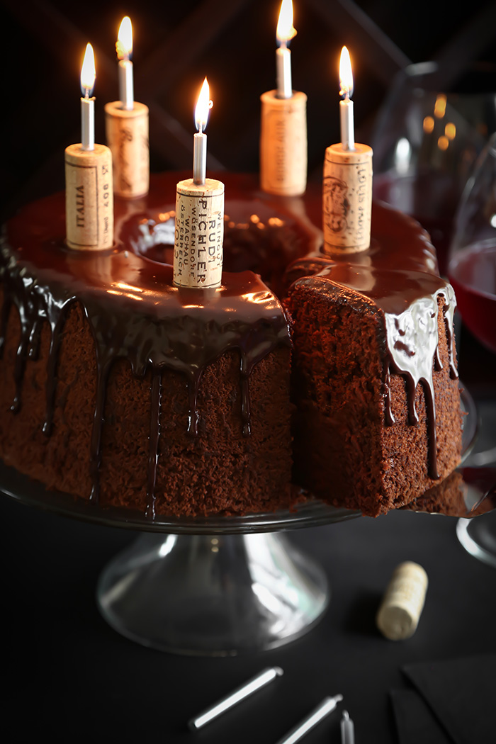 Chocolate Red Wine Chiffon Cake Sprinkle Bakes
