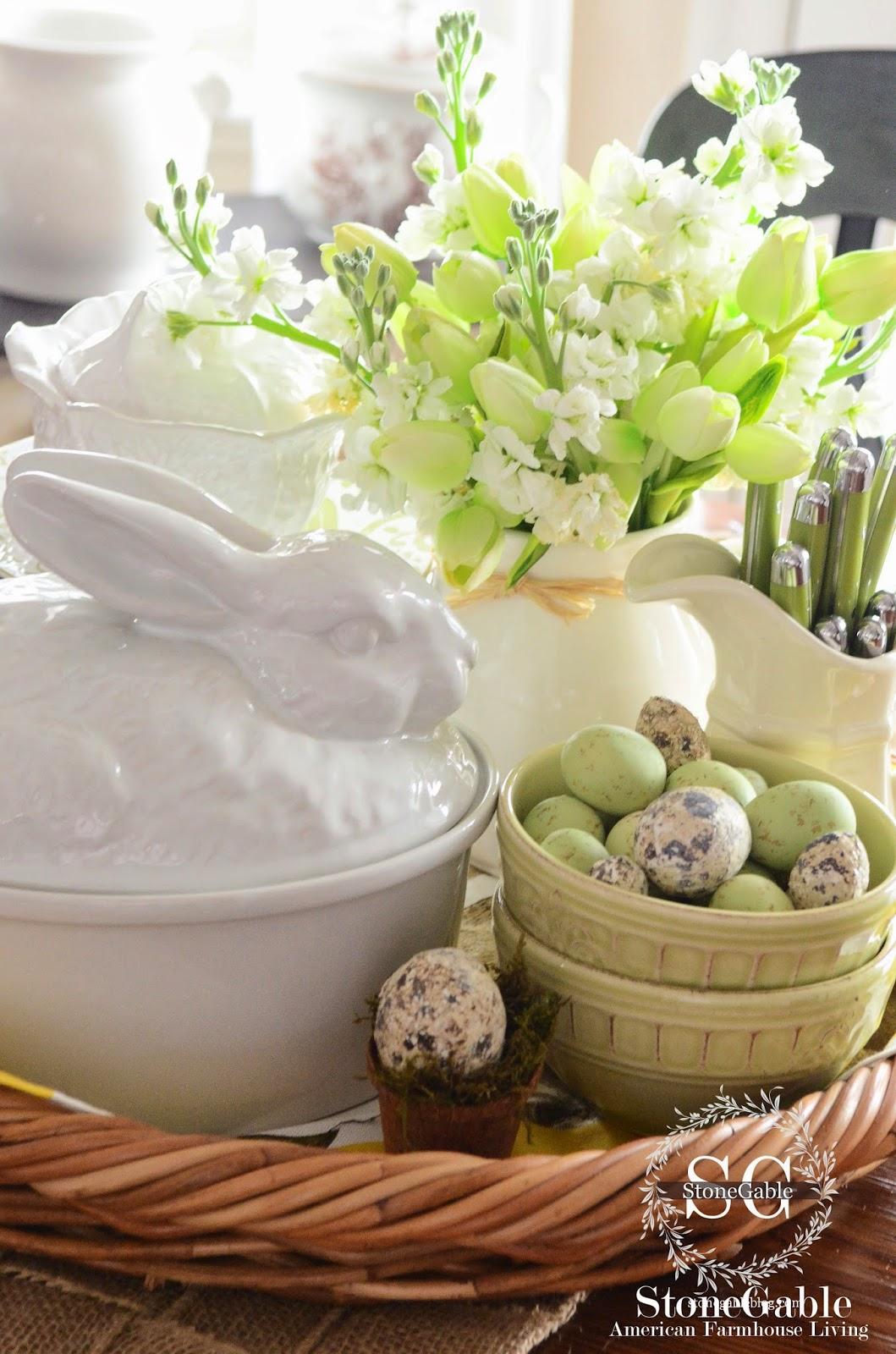 Spring kitchen vignette stonegable for Decor vignette