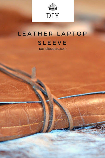 easy to make, laptop sleeve, faux leather, sew, pattern