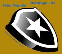 Escudo do Botafogo do Rio de Janeiro chamando para escutar o Hino mais popular do clube composto por Lamartine Babo