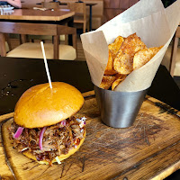 Pulled pork sandwich at Smokeyard BBQ