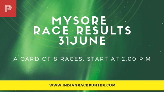 Mysore Race Results 31 July