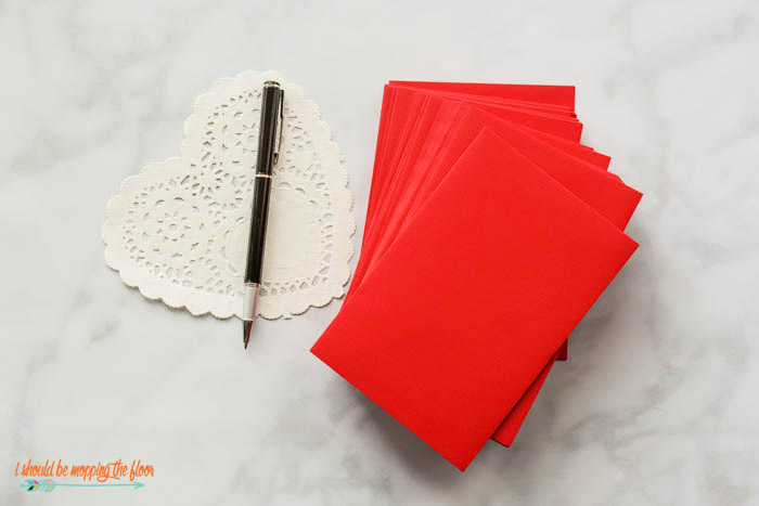 Red Valentines Day Envelopes