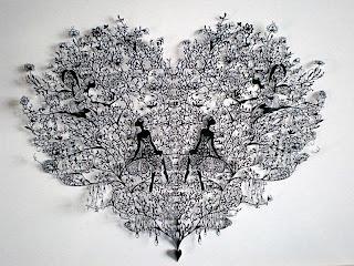 Increíble arte con corte de papel.