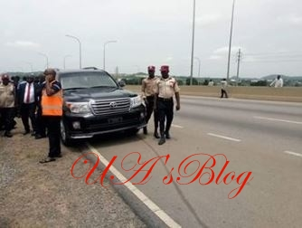 See The Moment Kogi Governor Was Involved In An Accident In Abuja (Photos)