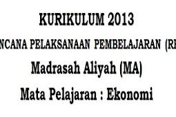 RPP Ekonomi Kelas 10 SMA/MA Kurikulum 2013 Komplit