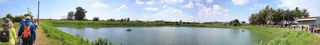 沿途的魚塭地景,是主要的視覺景觀。
