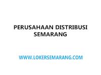Lowongan Sales TO Perusahaan Distribusi Consumer Goods di Semarang