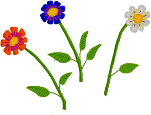 Different Types Of Flowers Cartoon