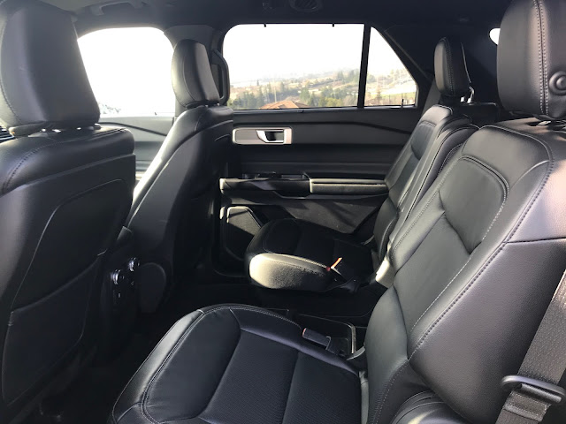Rear seat in 2020 Ford Explorer Limited Hybrid