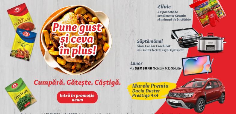 Concurs Condimente Cosmin - Castiga o masina Dacia Duster 4x4 - castiga.net - 2020