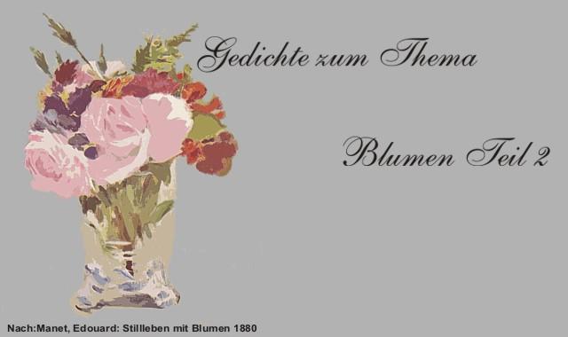 Gedichte Und Zitate Für Alle Gedichte Zum Thema Blumen