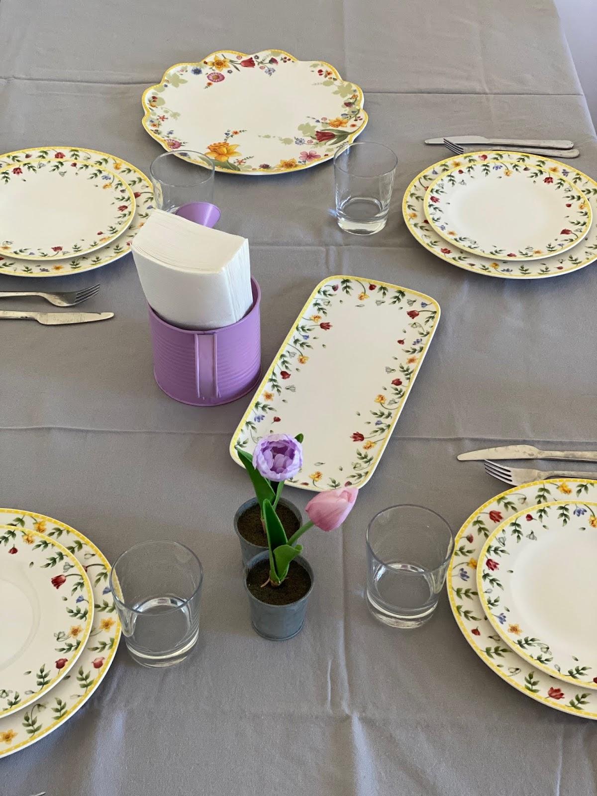 allestimento tavola Pasqua