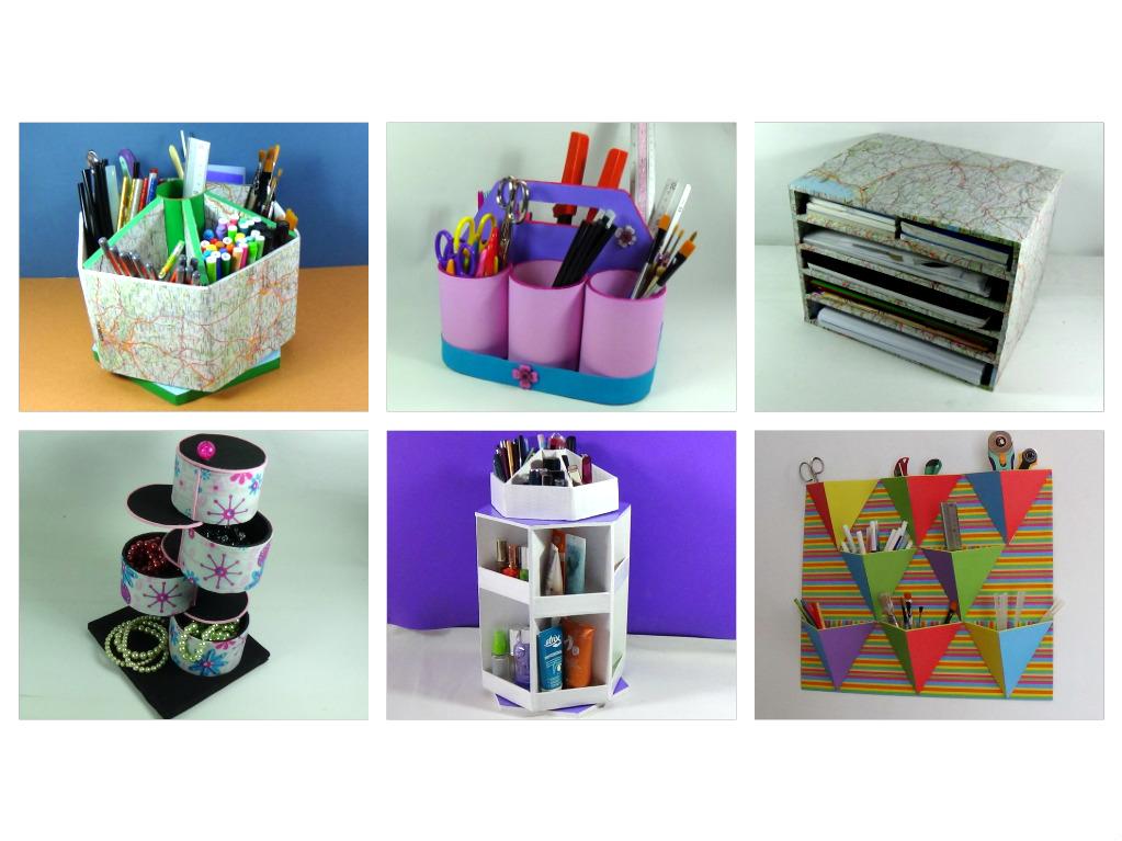Vida f cil recicla cart n y papel para hacer estos - Organizadores hogar ...