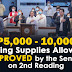 Senate approves bill to increase teachers' allowance to P10,000