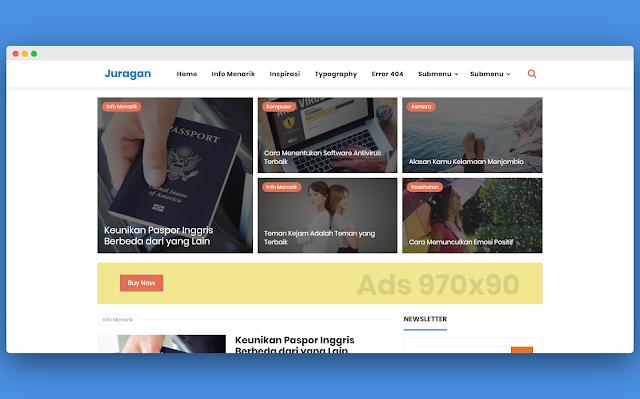 Juragan Premium Free 100% No Credit Link (Fast Blogger Template)