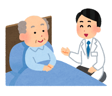 訪問看護・訪問介護のイラスト(男性)