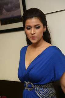 Mannara Chopra in Short Blue Dress at Rogue Movie Teaser Launch 1st March 2017 089.JPG
