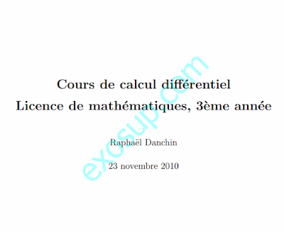 cours calcul differentiel sma s5