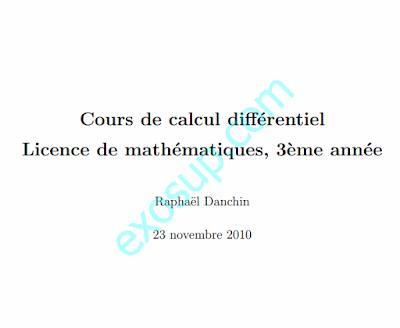 cours calcul differentiel sma s5