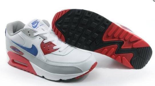 size 40 f1fcc b7be2 Dam Nike Air Max 90 Grå Röd Vit Sneaker