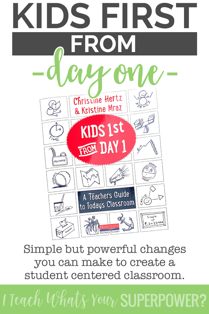 Looking for a book that will change your classroom without making your brain hurt? Kids First from Day One will influence big changes in your classroom. One of my top 5 must reads!
