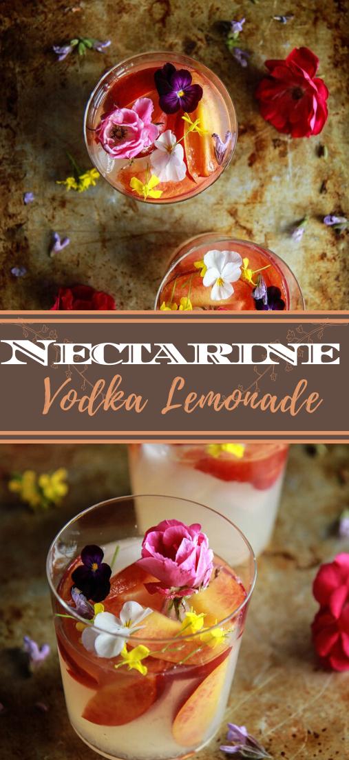 Nectarine Vodka Lemonade  #healthydrink #easyrecipe #cocktail #smoothie