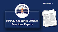 HPPSC Accounts Officer Previous Papers