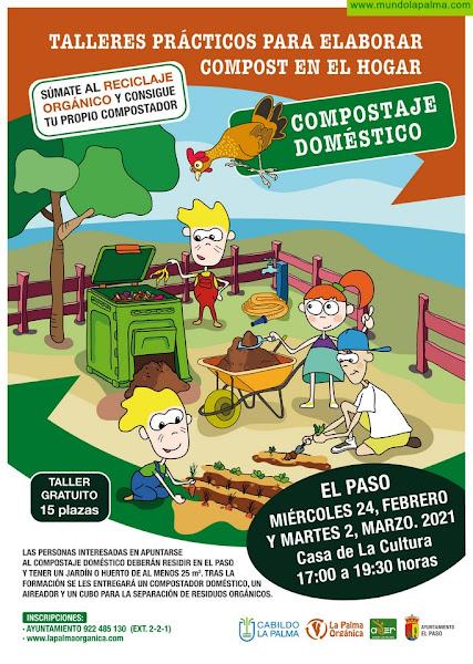 El Cabildo y ADER La Palma prosiguen con el programa de compostaje doméstico y celebran dos talleres en Breña Alta y El Paso