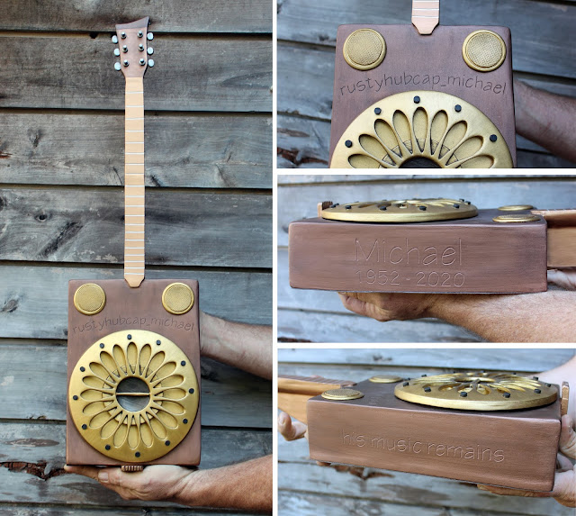 cigar box guitar cremation urn